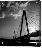 Stan Musial Bridge St Louis Mo Black And White_dsc4591_16_65 Acrylic Print