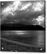 Stand Up Paddlers In Stormy Skies Acrylic Print