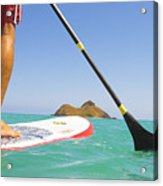 Stand Up Paddling Acrylic Print