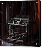 Standard Typewriter Acrylic Print by Viktor Savchenko