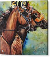 Standardbred Trotter Pacer Painting Acrylic Print
