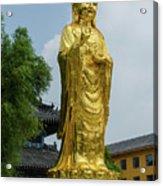 Standing Budda At Mi Tuo Shi Acrylic Print