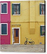Standing By For A Quick Get Away In Burano Italy Acrylic Print