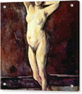 Standing Nude Woman Acrylic Print by Cezanne