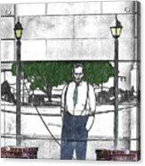 Standing On A Corner In Asheville Carolina Acrylic Print