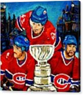 Stanley Cup Win In Sight Playoffs   2010 Acrylic Print by Carole Spandau