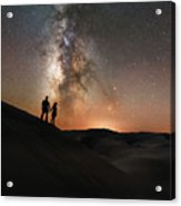 Star Crossed Lovers At Night Acrylic Print