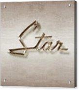 Star Emblem Acrylic Print