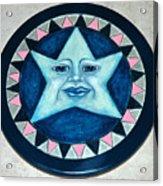 Star Face Lazy Susan Acrylic Print