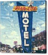 Star-lite Motel Acrylic Print