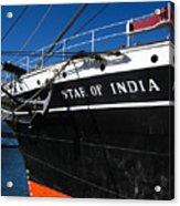 Star Of India Tall Ship San Diego Bay Acrylic Print
