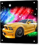 Star Of The Show - Mustang Gtr Acrylic Print