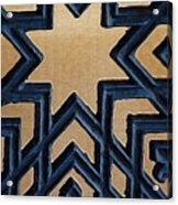 Star On Iron Gate Acrylic Print