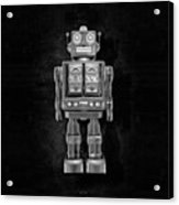 Star Strider Robot Red Bw Acrylic Print