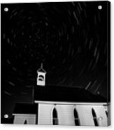 Star Tracks Over Saint Columba Anglican Country Church Acrylic Print