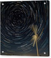 Star Trail In Hays, Ks Acrylic Print