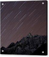 Star Trails Above Himal Chuli Created Acrylic Print by Alex Treadway