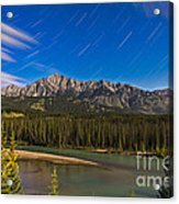 Star Trails Above The Front Ranges Acrylic Print