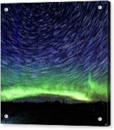Star Trails And Aurora Acrylic Print