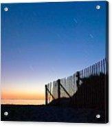 Star Trails In Wellfleet Cape Cod Acrylic Print