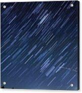 Star Trails Long Exposure At Night Acrylic Print by Evan Sharboneau
