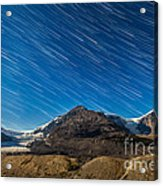 Star Trails Over Columbia Icefields Acrylic Print
