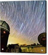 Star Trails Over Custer Observatory Acrylic Print