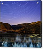 Star Trails Over Hauser Acrylic Print