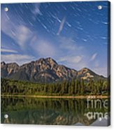 Star Trails Over Patricia Lake Acrylic Print