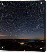Star Trails Over Whitesburg Acrylic Print