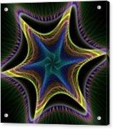 Star Twist Spiral Acrylic Print