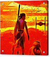 Star Wars 8 Last Jedi - Da Acrylic Print