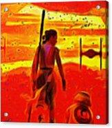 Star Wars 8 Last Jedi - Pa Acrylic Print