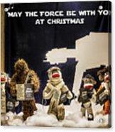 Star Wars Christmas Card Acrylic Print