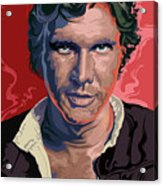 Star Wars Han Solo Pop Art Portrait Acrylic Print