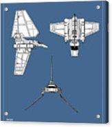Star Wars - Shuttle Patent Acrylic Print
