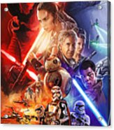 Star Wars The Force Awakens Artwork Acrylic Print