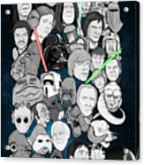Star Wars Universe Collage Acrylic Print by Gary Niles