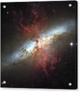 Starburst Galaxy, Messier 82 Acrylic Print by Stocktrek Images