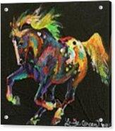 Starburst Pony Acrylic Print
