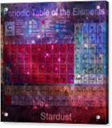 Stardust Periodic Table Acrylic Print