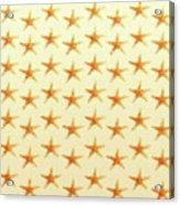 Starfish Pattern. Acrylic Print