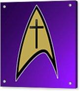 Starfleet Pastor  Acrylic Print