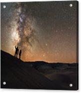 Stargazers Under The Night Sky Acrylic Print