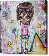 Starla Jones The 3rd Intergalactic Star Jumper Acrylic Print