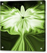 Starlight Angel - Green Acrylic Print