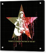 DAVID BOWIE - STARMAN #black Acrylic Print