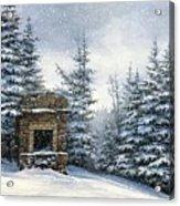 Starr King Stone Fireplace Acrylic Print