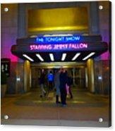Starring Jimmy Fallon Acrylic Print
