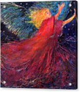 Starry Angel Acrylic Print